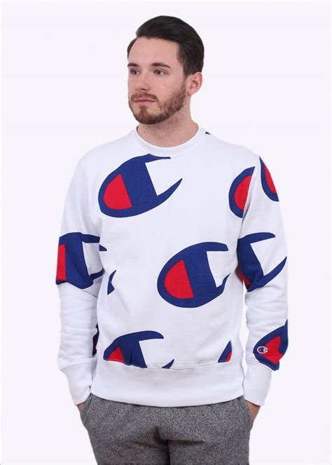 Sweater Sket Logo 1 chion weave allover logo sweater white