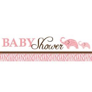 wild safari pink baby shower giant party banner