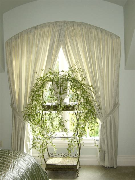 arch drapes arched top drapery curtains boutique