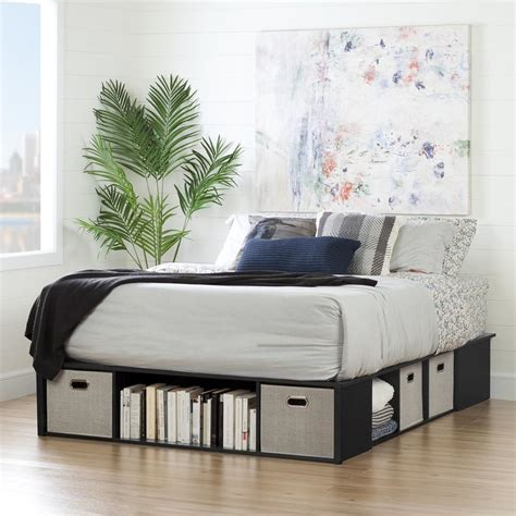 storage bed no headboard south shore wood storage bed 10488 the