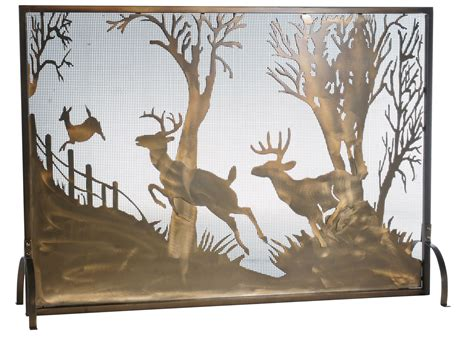 meyda 113656 deer on the fireplace screen