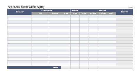 Download Receivable Related Excel Templates For Microsoft Excel 2007 2010 2013 Or 2016 Free Accounts Receivable Template