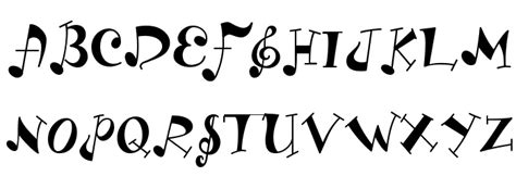 printable music font ld music font free fonts