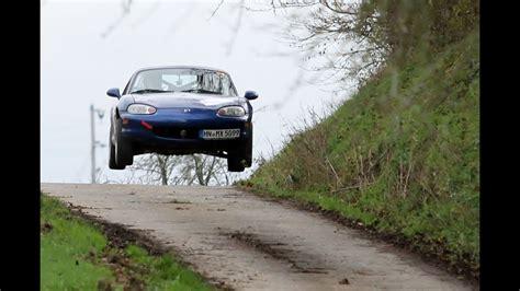 porsche rally car jump rallye mx5 miata big jump rallyesprint oberderdingen