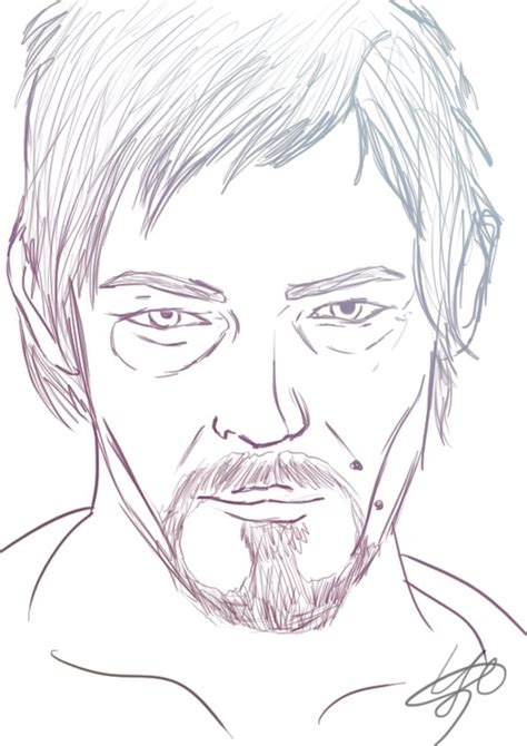 walking dead characters coloring pages daryl dixon