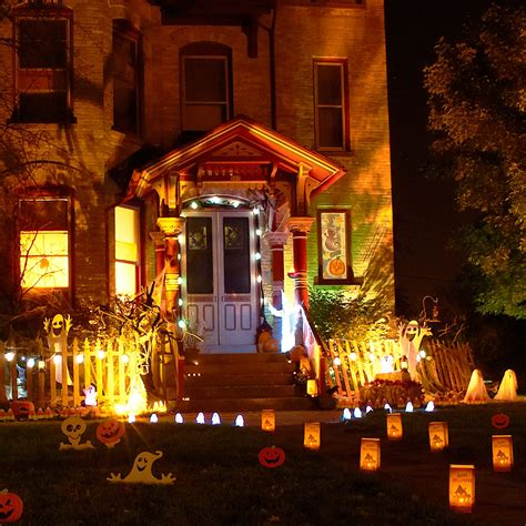 home outside decoration spooky outdoor decorations for the halloween night