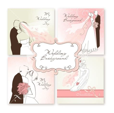 Wedding Vector by Wedding Background Vector Image Set