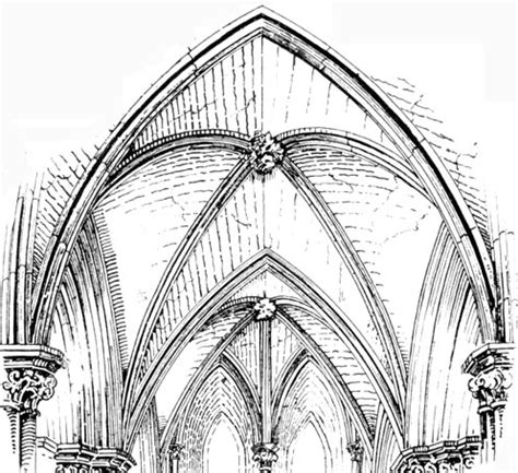 cathedral roofdrawing lierne stellar vault decorated style by banister f fletcher design