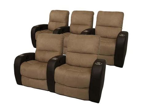 Theater Chair by Seatcraft Home Theater Seating 5 Seats Power