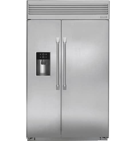 48 inch ge monogram refrigerator zisp480dhss monogram 174 48 quot built in professional side by