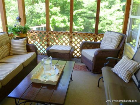 screened porch makeover joyful homemaking