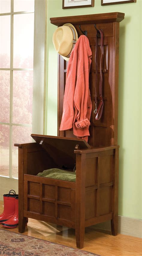 mini hall tree with storage bench home styles mini hall tree and storage bench 88 5644 49