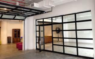 Glass garage door with passing door all garage and roll up doors