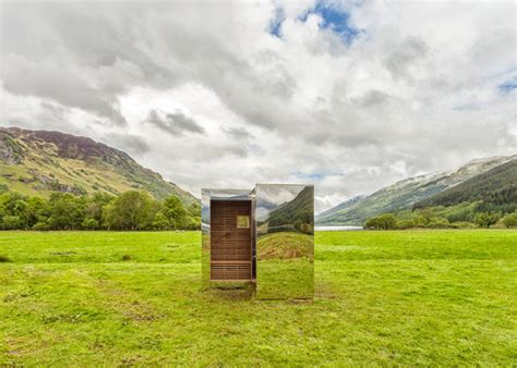 Mirrored Cabin by Mirrored Cuboid Cabins Mirrored Cabin