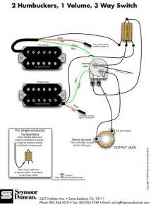 2 humbucker 1 vol 1 wiring diagrams