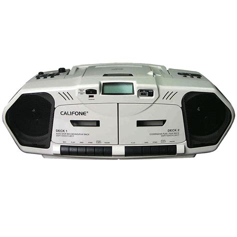 califone 2395av 02 audio cd cassette boombox