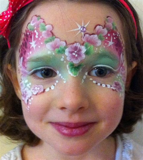 flower makeup painting flower painting mask