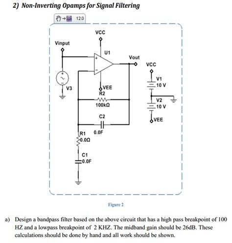 high pass filter non inverting non inverting ops for signal filtering design a chegg