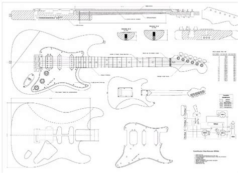 stratocaster neck template scale plans for the fender stratocaster deluxe hss
