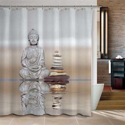buddha shower curtain aliexpress com buy shower curtain buddha pebble