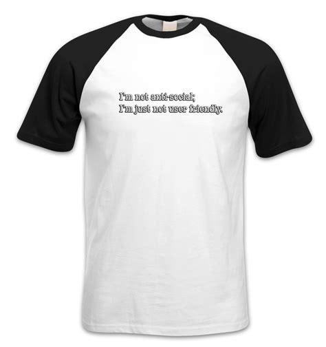 Big Size Xxxlkaost Shirt Anti Social i m not anti social sleeved baseball t shirt somethinggeeky