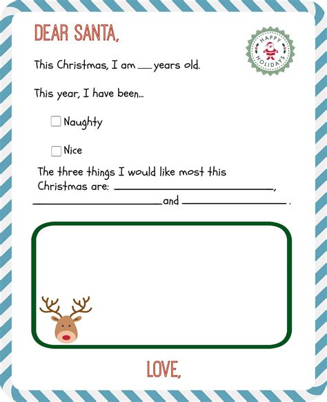 free printable letter from santa template letters to santa with free