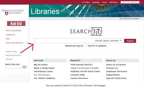Wsu Search Wsu Tour Search It Wsu Libraries