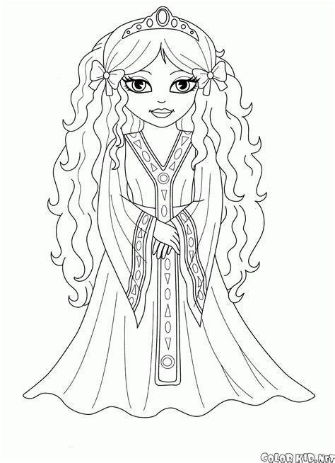 Coloriage - Princesse Marianne
