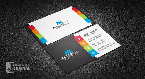 cool business card template free vibrant multi color business card template