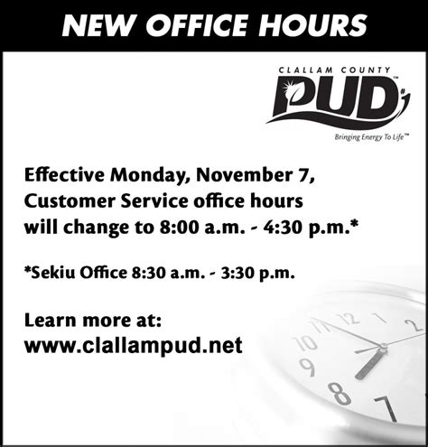 section 8 office hours improved customer experience clallam county pud