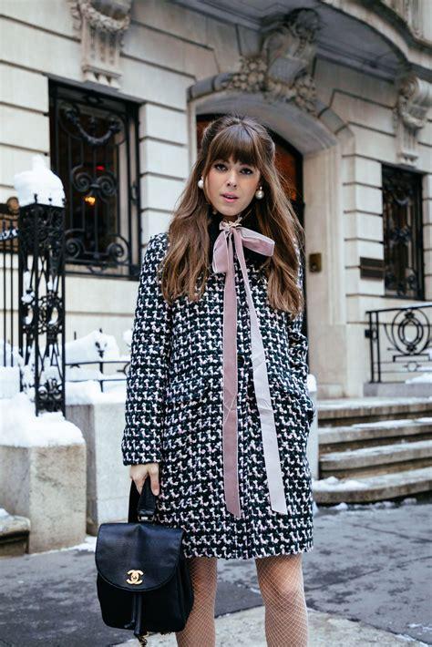 tweed style jacket details hue tights date look margo me