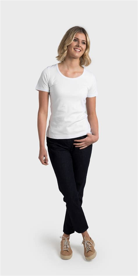 Original 3second Basic Relaxed Kaos Tshirt White womens organic cotton scoop neck t shirt relaxed fit