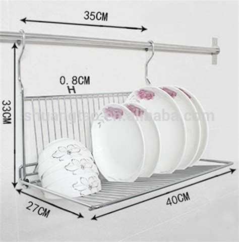Wall Hang Dish Rack practical metal hanging dish rack wall mount dinner plate