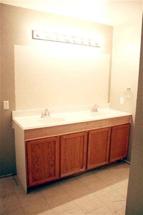 bathroom vanity heights remodelaholic how to raise up a short vanity
