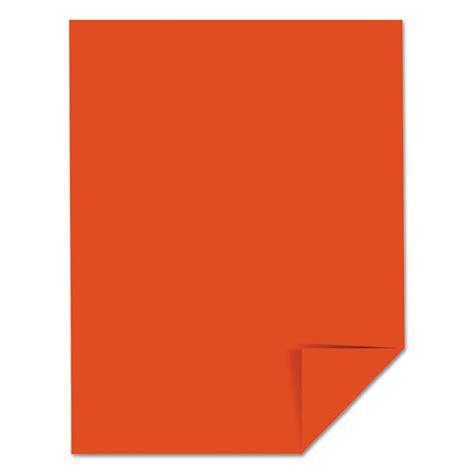 printable cardstock paper color cardstock 65lb 8 1 2 x 11 orbit orange 250