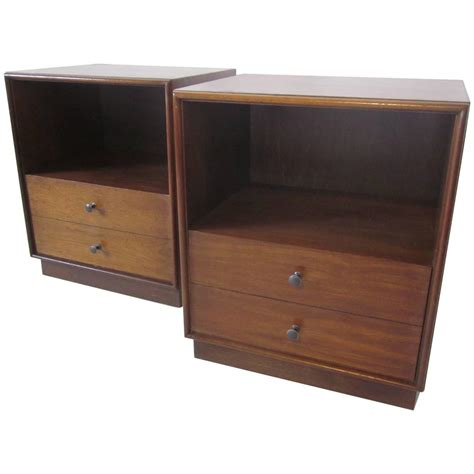 Nightstands For Sale Walnut Mid Century Nightstands For Sale At 1stdibs