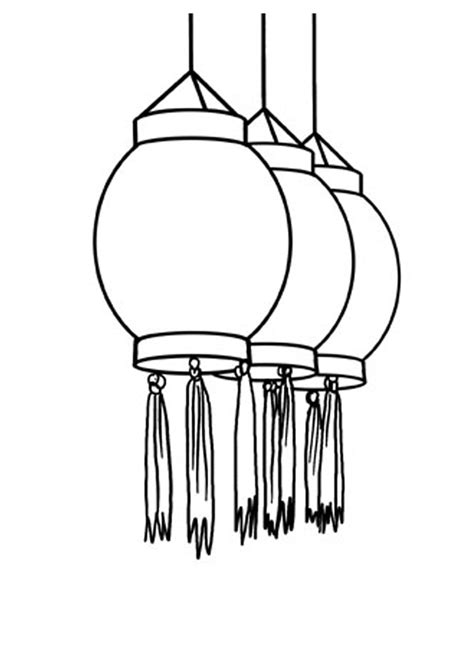 new year lantern colouring clip black and white lanterns clipart
