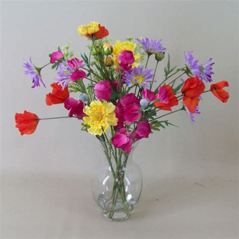 artificial flower arrangements artificial flower arrangement mixed garden flowers silk