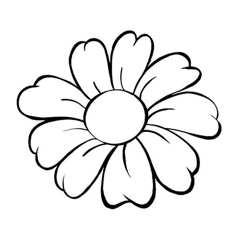 flower colouring template flower flower outline coloring page