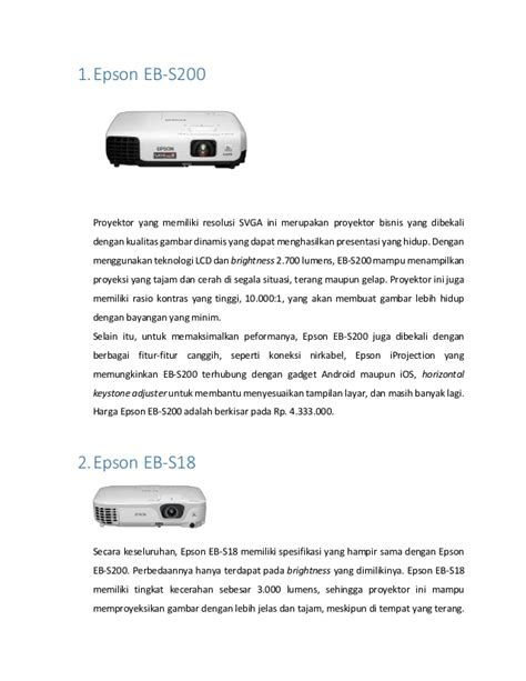 Proyektor Mini Dibawah 1 Juta 5 proyektor epson murah dibawah 6 juta