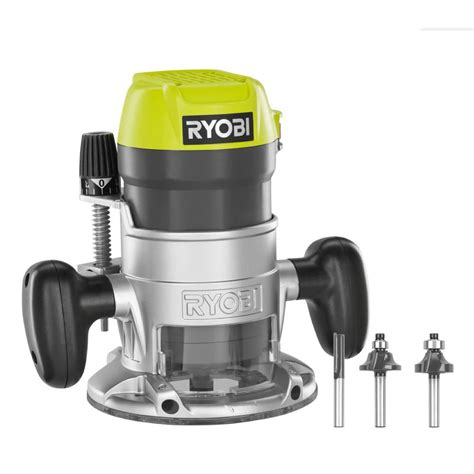 woodworking routers ryobi 1 1 2 peak hp router kit the home depot canada