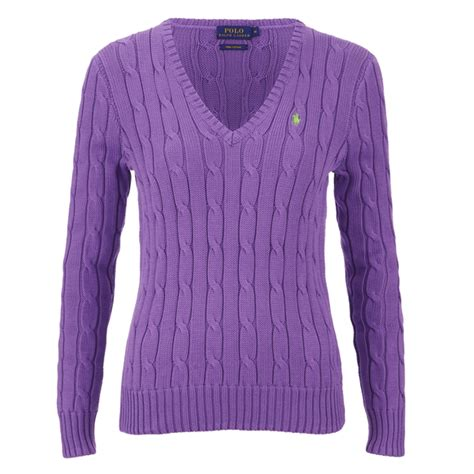 ralph womens knitted jumper polo ralph s jumper laguna purple free uk delivery 163 50