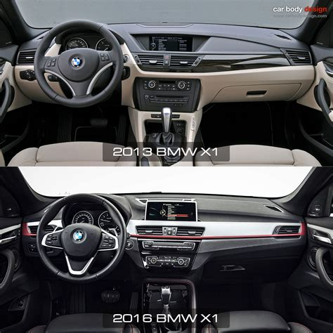 interior design bmw x1 1st vs 2nd generation bmw x1 interior design comparison
