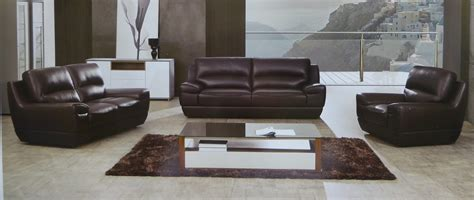 3 dado italian top grain brown leather modern sofa