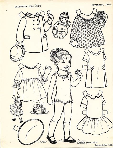 vintage baby coloring pages 17 best images about paper dolls on pinterest barbie