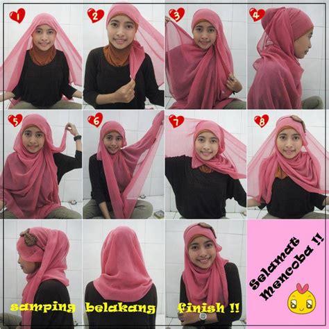 memakai hijab pashmina simple  modis