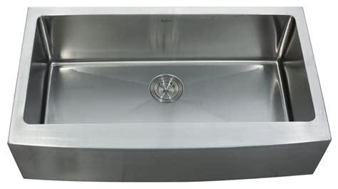 stainless steel sink kitchen kraus khf200 36 36 inch farmhouse single bowl 16 guage