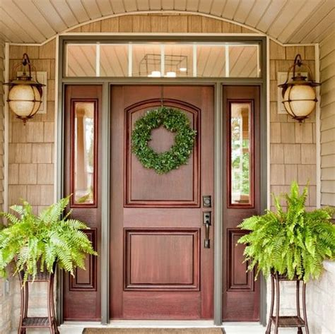 wood front door 27 cool front door designs with sidelights shelterness