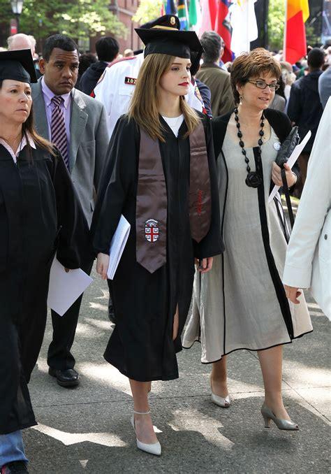 emma watson graduation semi exclusive emma watson graduates from brown