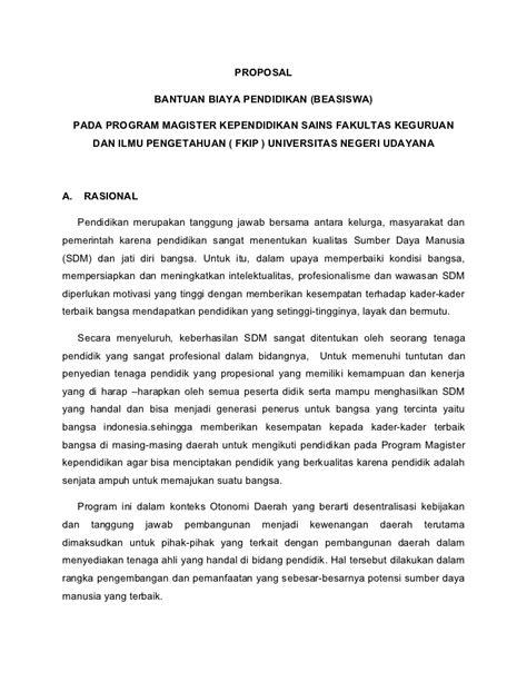 Format Proposal Beasiswa S2 | proposal beasiswa s2 ilmu pendidikan dan keguruan